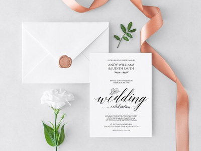 Printable Elegant Wedding Invitation Template wedding menu design wedding stationery wedding set weddings wedding invitation wedding design wedding print wedding program