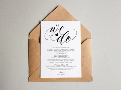 Judith Wedding Invitation Template design wedding set weddings wedding program wedding stationery wedding invitation wedding design wedding print