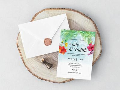 Beach Wedding Invitation Template free design wedding stationery wedding set weddings wedding invitation wedding design wedding print