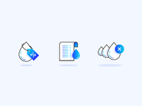 Droplet Billing Icon Set
