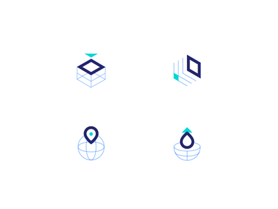 Icon Set scale cloud computing wireframe global deploy servers droplets icon set icons digitalocean