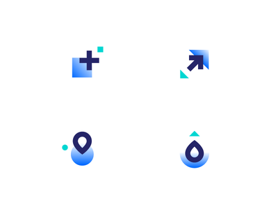 Abstract Icon Set choose scale global cloud computing servers droplets digitalocean abstract icons