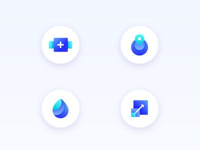 3D Icon Set apps cloud computing datacenter global servers create droplets icon set 3d icons digitalocean