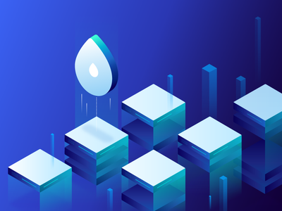 Droplets Hero Illustration cloud servers droplets digitalocean