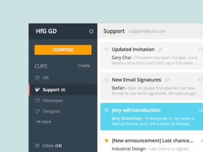 Inbox mail web applicaton