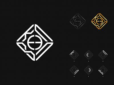 Kennes ui design curve company future button corporate branding logo
