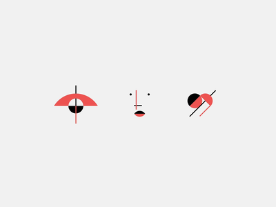 Suprematism icons aftereffects digital agency bounce minimal simple line ux ui geometric animation icon design motion iconographer heart eye face iconography icon set icon
