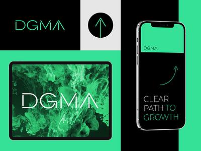 DGMA branding design brand identity lettering logodesign experimental modern elegant minimal agency logo typography typo brand design logo design logotype brand logo agency branding agency