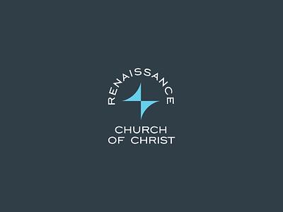 Renaissance ✝︎ Church of Christ christ renaissance church logo church branding god church design bethlehem logodesign star church logo design logo