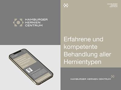 Hamburg Hernia Centre brand agency brand design hamburg medicine medical symbol branding identity design brand logo