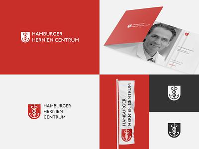 Hamburg Hernia Centre Logo Concept anchor medical design medical medicine brand agency brand identity brand design branding identity design brand logo
