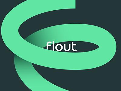 Flout Logo Concept brand agency brand design marketing influencers social media f letter hurricane symbol letter branding identity design brand logo