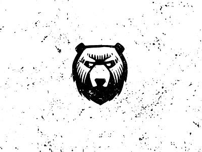 Bear bear head black rude sketch man shop hipster fear brave brand identity