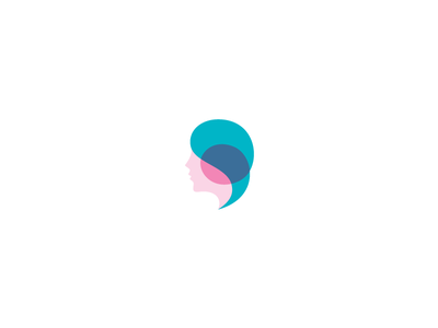 Beauty surgery plastic clinic medicine beauty girl woman head identity brand logo