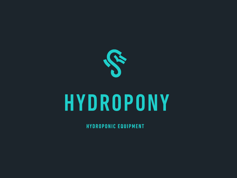 Hydropony equipment smoke grow horse water weed identity brand logo