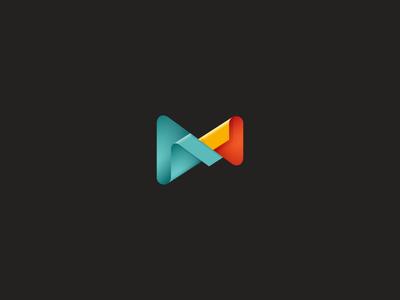 Wraps curve app icon media wrap colorful design logo