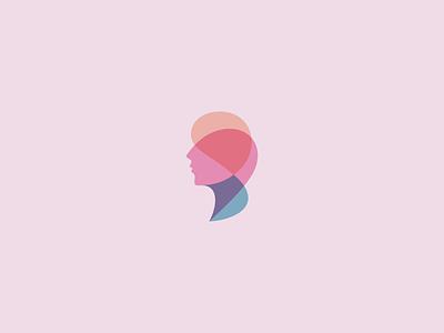 Laser Clinic laser clinic surgery plastic woman head app icon design logo