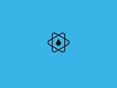 WaterTech petrol cog logo design brand icon water tech drill drop oil gear cogwheel