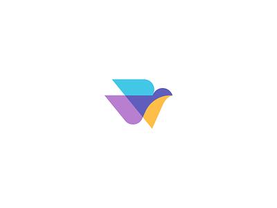 Bilai free wing pigeon color bird dove brand design logo