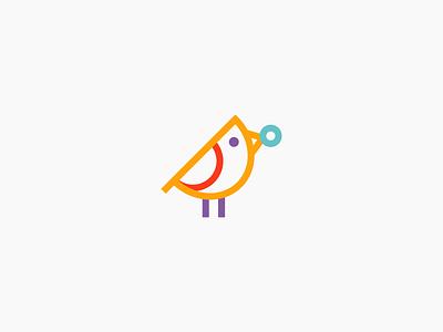 Birdie app wing icon delivery food bird brand design logo