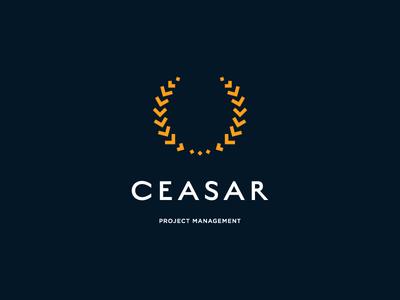 Ceasar ceasar olive leaf management project brand design logo