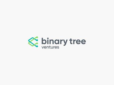 Binary Tree venture things cyber fintech tree binary brand design logo