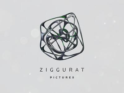 Ziggurat alien data knot movie 3d strange c4d design logo
