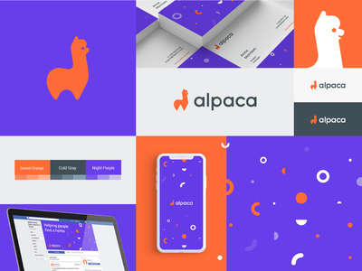 Alpaca head animal alpaca apartment rental facebook property digital identity branding design logo