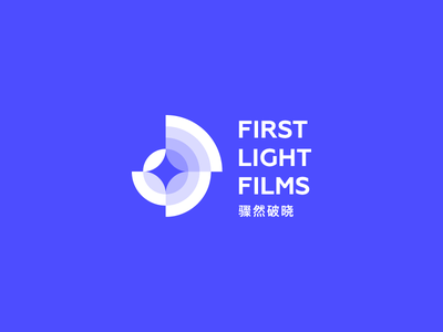First Light Films branding identity star movie production film light first brand design logo