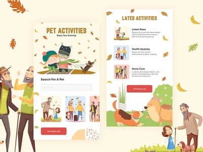 Pet Activities App Design
