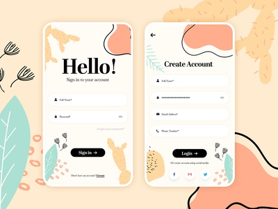 Multipurpose Login App Design
