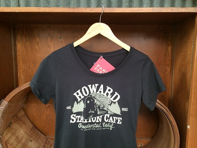 Howard Station Cafe fashion farm fresh typography t-shirts occidental california hand drawn lettering
