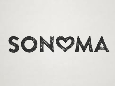 SONOMA  logo design graphic design hand drawn typography lettering sonoma sonoma county