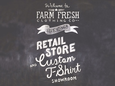 Farm Fresh Chalkboard Sign chalkboard signage farm fresh lettering design hand drawn