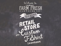 Farm Fresh Chalkboard Sign