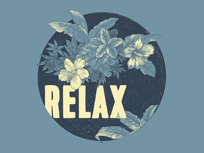 Relax (in Storm) fashion farm fresh hand drawn t-shirts relax tropical indexed