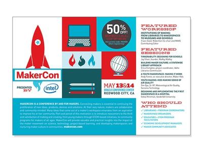 Makercon Postcard  print postcard makercon make conference event design graphic design makers
