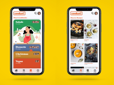 AdobeXD Challenge: Auto - Animation | Cooking app adobe iphone 11 pro user experience recipe cooking app illustration graphic design user interface ux