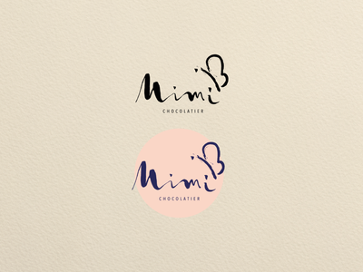 Mimi Chocolatier: Logo Design [first stage] color theory brown i m mimi los angeles chocolate vector branding logo typography illustration design adobe illustration art branding design logo design graphic design