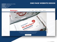 Mediwiper Website Creation ux photography wixiweb wix graphic design adobe design ui design healthcare styleguide product website one page web design