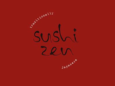 Logo Challenge: Sushi Zen design adobe graphic design branding ink ink type brand circle experimental typography customtype japanese sushi logo design logo