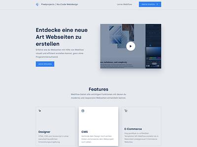 Pixelprojects Website Redesign video no-code figma webflow branding minimalistic graphic design