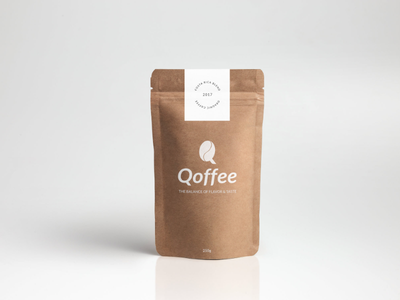 Qoffee minimalistic graphic design coffee shop coffee branding mockup logo design