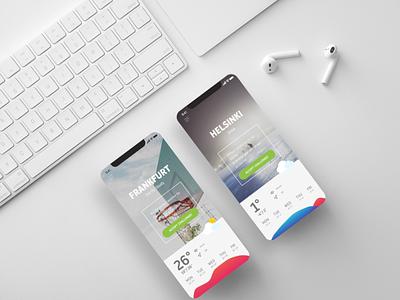 Sports Weather minimalistic graphic design mockup ui design sports weather app