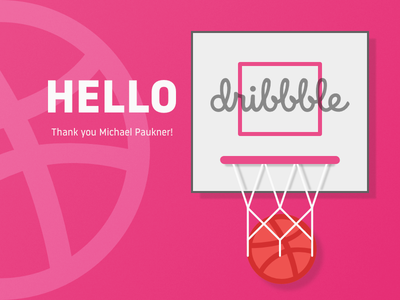 Hello Dribbble! affinity designer first shot invite dribbble illustration