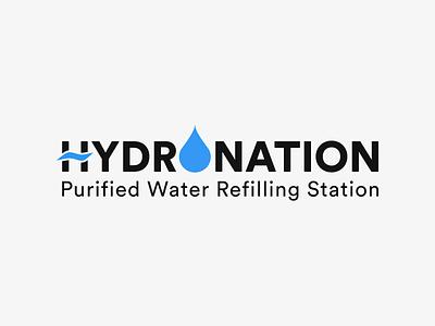 Hydronation illustration branding logo design affinity designer graphic design logo refilling water