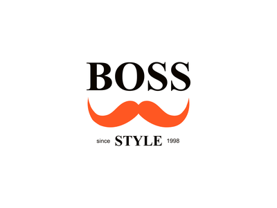 Boss Style Barbershop Logo graphic design logo design branding illustration barber affinitydesigner logodesign design logo barber logo barbershop