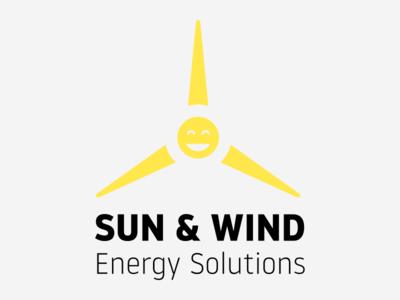 Sun & Wind Energy Solutions reneweable affinitydesigner turbine logo energy wind sun