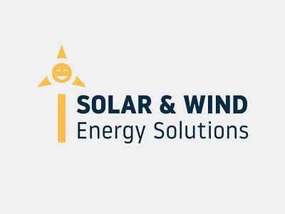 Solar & Wind Energy Solutions Part 2 affinity designer logo design graphic design branding illustration logodesign design logo energy solar energy wind solar