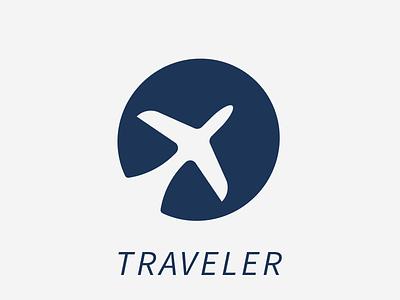 Traveler Logo illustration minimalistic icon vector ui figma graphic design branding logo design logodesign graphicdesign logo travel